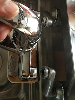 シングルレバー水栓寸法のチェック