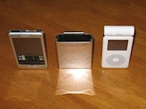 ガンホルダータイプステンレス製iPodケース