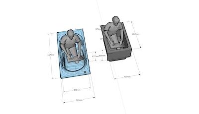 プレゼンで困ることは「浴槽がどのくらい広くなるの?」と聞かれる事です。 おおよそは図面で示すのですが、なかなか真意は伝わりにくい事が多くあります。 そこで模擬3Dの図形で書いてみました。わかってもらえるとありがたいと思い […]