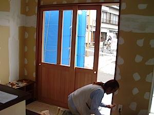 11/30 玄関引き違い戸内観 藤沢市「M」様邸、内観はこのように見えています。 玄関引き違い戸内観 ページトップに戻る↑                           ページ一番下へ↓