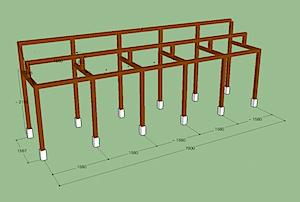 茅ヶ崎市「B2」様宅の太陽光発電の架台設置に取りかかります。 このような寸法で工事することにしました。 敷地と建物関係を考えてどのくらいのボリュームで設置出来るかをSketchUpをつかって 立体的に三次元で考えてみまし […]