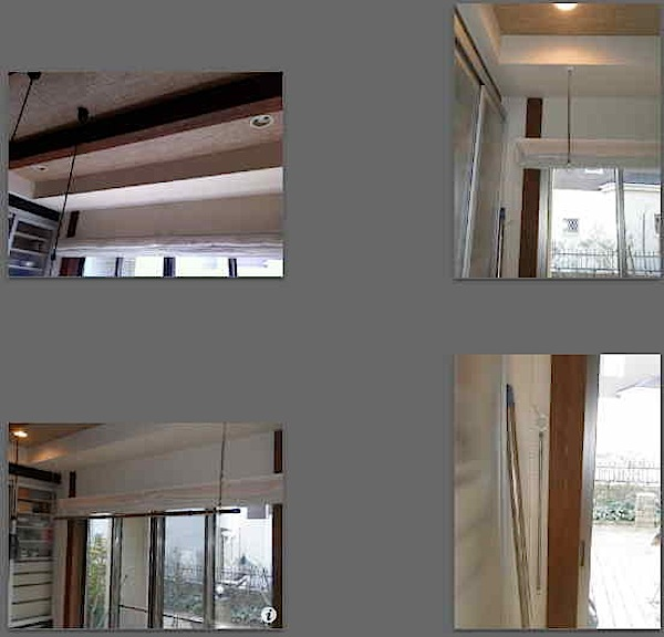 室内物干しを取り付けました。 「Y」様はご夫婦とも勤務されていますので雨の時に物干しのスペースがほしいという事でした。 ボーダー天井(今は珍しいです)ですので取り付け位置が限られます。 室内用ホスクリーン スポット型 S […]