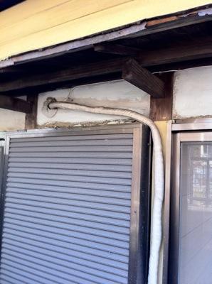 霧除け屋根の交換1