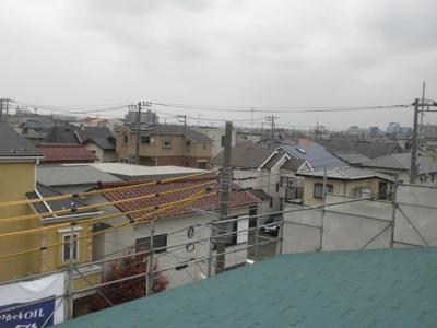 屋根から見える光景南西