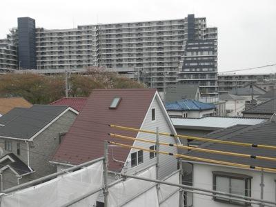 屋根から見える光景南東