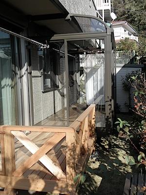 鎌倉市「O2」様の、ウッドデッキ、サンルーム、電動シャッターの工事が完了しました。 仕上がり状態は下記の通りになっています。 完成状況 イメージ図と比較してみてください。 ウッドデッキ扉を閉めた状態────────── […]