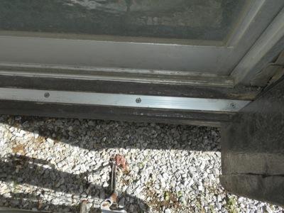 木製雨戸レール修理