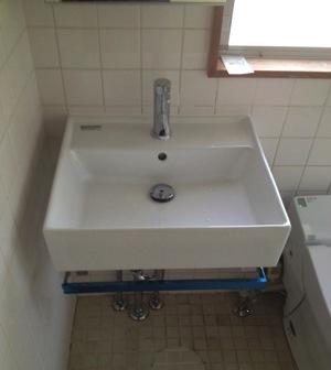 シビアな寸法の洗面スペース
